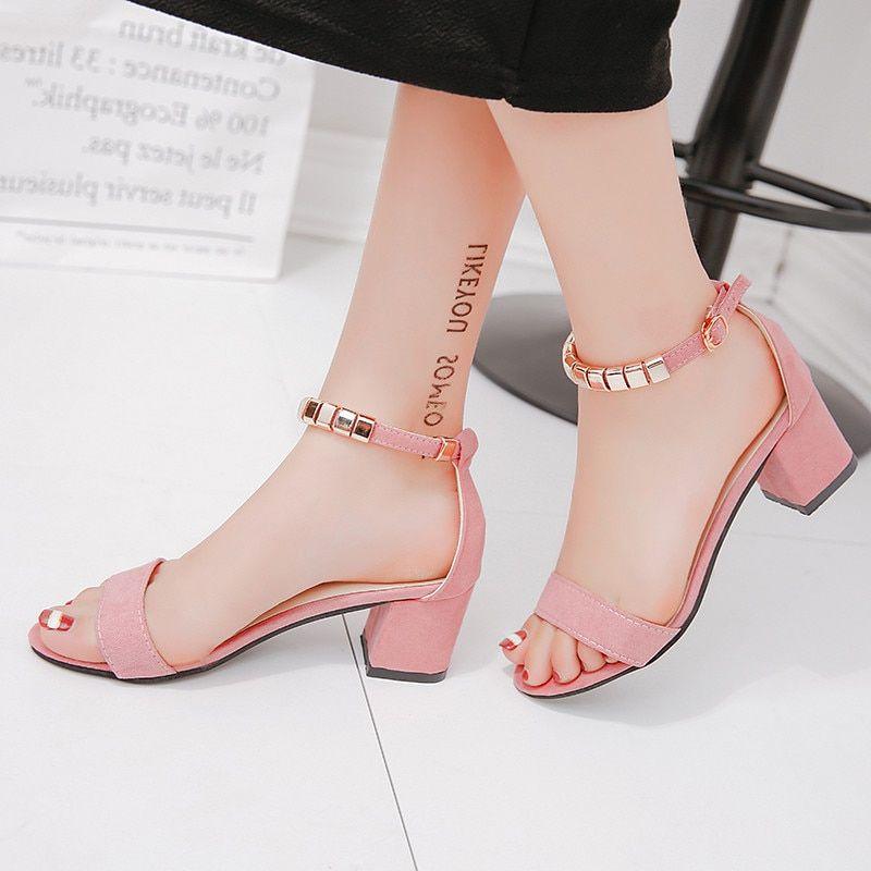 Sandals Open Toe Square heels Shoes Shoes PU27