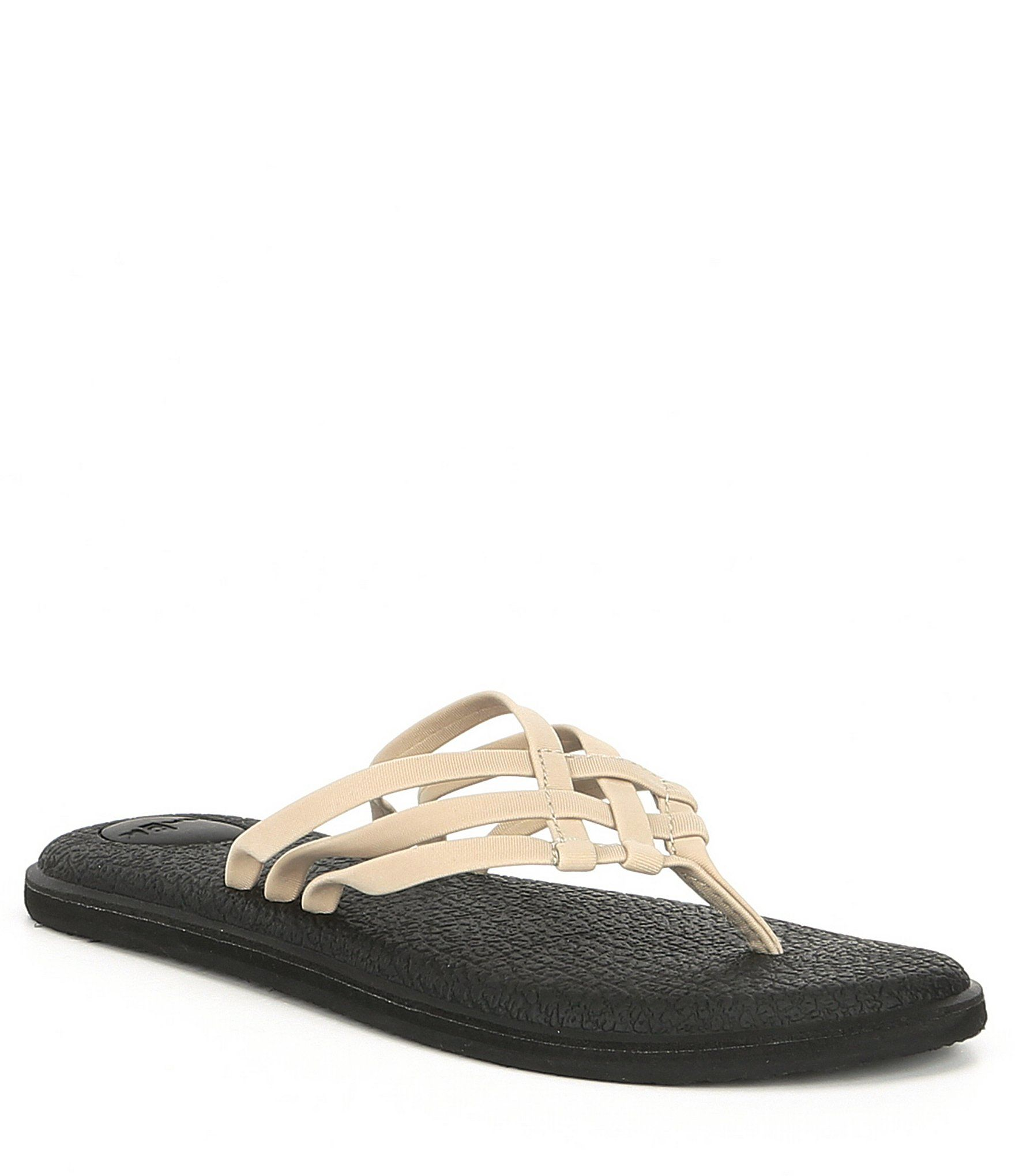 Sanuk Women's Yoga Salty Flip Flop Sandals – Black 9M