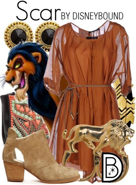 Scar isn't so scary in this Lion King inspired outfit.  | Disney Fashion | Disne…