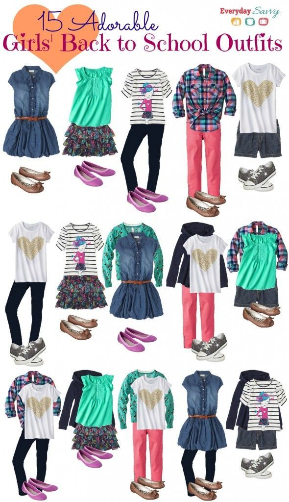 School Clothes for Girls – Mix and Match Outfits – Everyday Savvy