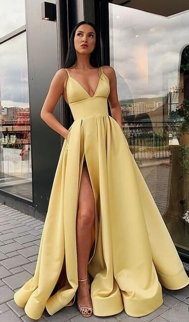Sexy Long Prom Dress With Slit, Popular Evening Dress ,Fashion Winter Formal Dress PDP0007