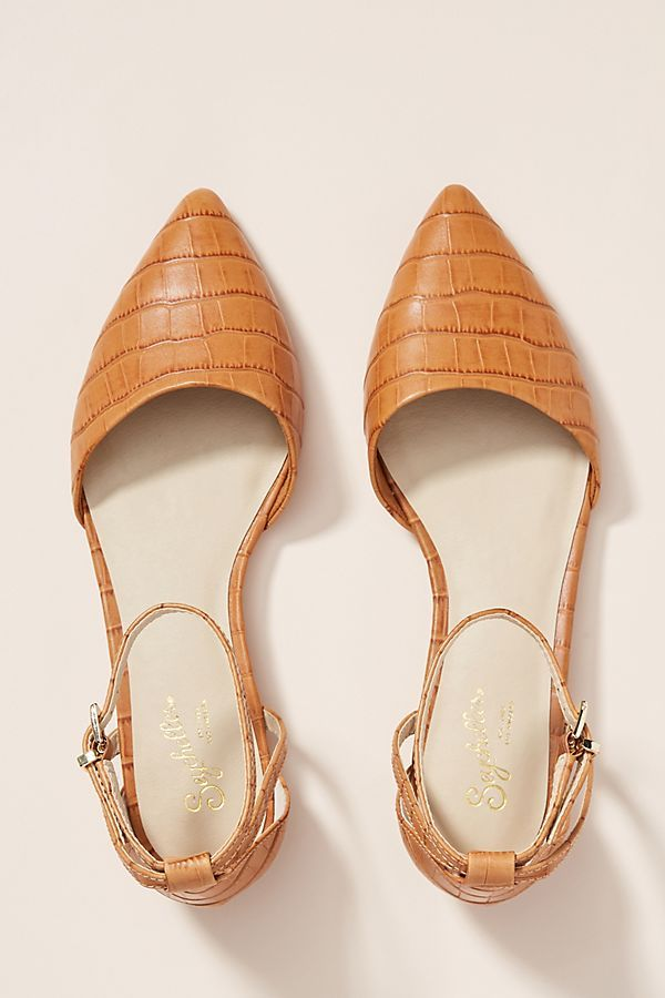 Seychelles Ankle Strap Flats by in Black Size: 6, at Anthropologie