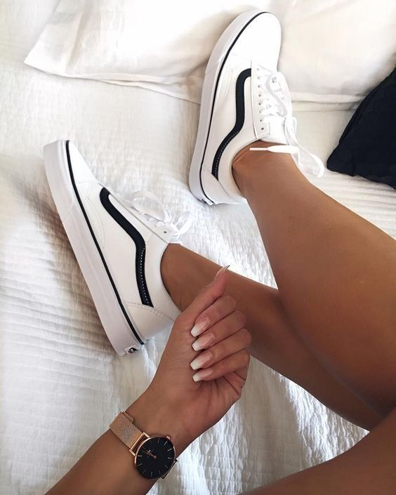 Shoes | Sneakers | White sneakers | Vans | Casual | Summer | Inspiration | More …