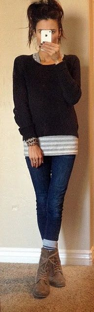 Skinny Jeans and Ankle Boots #skinnyjeansandankleboots Skinny Jeans and Ankle Bo…