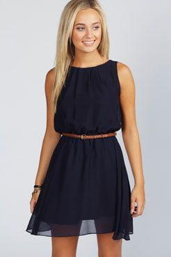Sleeveless Chiffon Belted Skater Dress | Boohoo