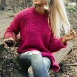 Snuggles Divine Tunic Sweater in Fuchsia