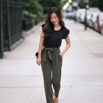 Soft Jersey Drape Pants + Black Cropped Blazer