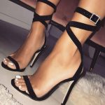 Solid Ankle Wrap Heeled Sandals