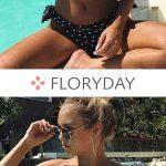 Spandex Bandeau Dot Bikinis Swimwear, dot, bandeau swimwear, swimwear, beach, su...