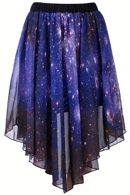 Starry Night Asymetric Skirt
