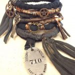 Steampunk Gypsy Bangle Stack! Post Apocalyptic Wire Wrap Bracelets with Vintage Charms ...
