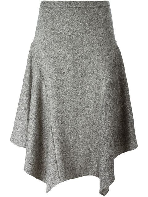 Stella McCartney tweed asymmetric skirt                                         …