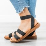 Strappy Elastic Sandals