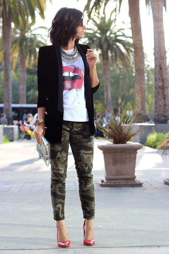 Street Style Military Pants and Army Trousers For Women (10)