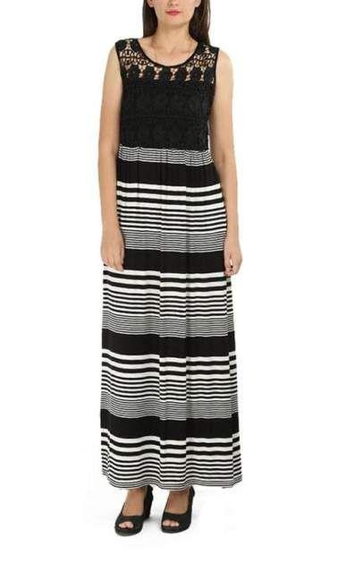 Striped Dress – Black & White