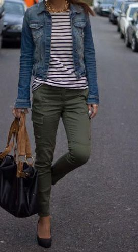 Style Spacez: 15 Cheap Blue Denim Jacket Outfit Ideas for Fall