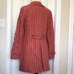 Stylish Trench coat pattern orange brick red rust Super stylish trench coat. Col...