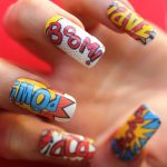 Super Comic Pow Boom Pop Nail Decals Waterslide Transfers Vintage Marvel Superhe...