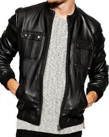 Super Spinner Men Bomber Leather Jackets