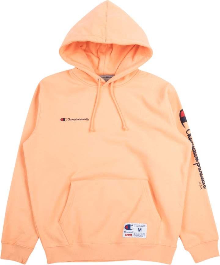 Supreme Champion Hooded Sweatshirt – Peach