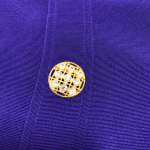 TADASHI vtg. blazer top purple rhinestone buttons Tadashi vintage luxurious spec...