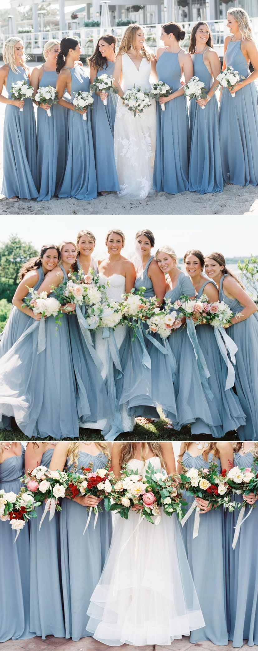 TOP 10 Dusty Blue Bridesmaid Dresses ideas on Pinterest