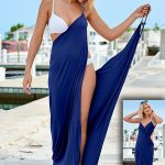 Take the flirty drape, wrap around, style to greater lengths! Venus wrap maxi dr...