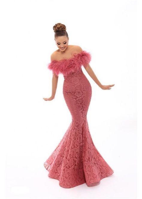 Tarik Ediz – 93635 Feather Ornate Off Shoulder Mermaid Gown