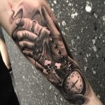 Tattoo Trends – 3D Pocket watch and hand tattoo – 100 Awesome Watch Tattoo Designs ♥ ♥