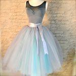 Taube grau und hellbraun blau Tutu Rock für Frauen. Ballett-Glamour. Retro-Look Tüllrock. Auch in grau/rosa Taube gezeigt