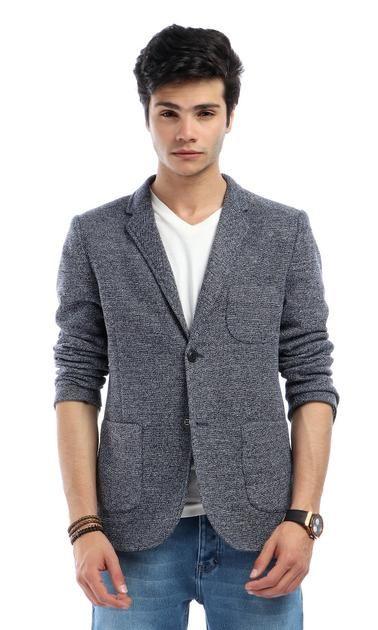 Textured Blazer – Grey