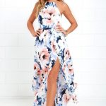 The At Long Last Peach and Blue Floral Print Maxi Dress is a number we've been h...
