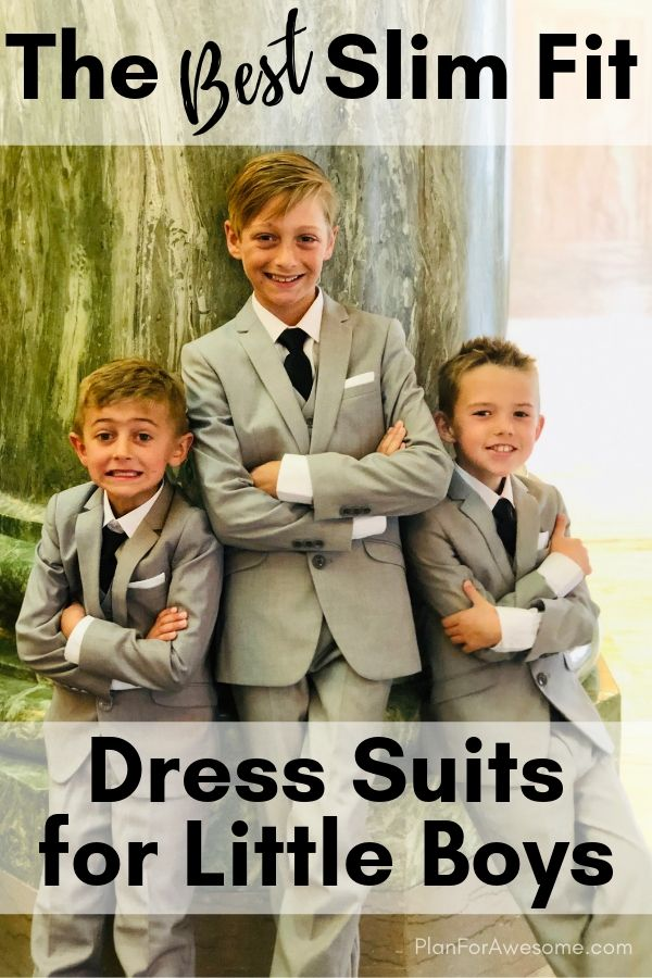 The Best Slim Fit Dress Suits for Little Boys