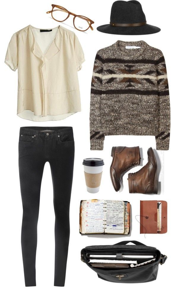 The sweater's print is on-point, and I think the boots, top, and pants are adora…