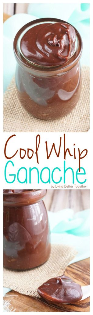 This Cool Whip Ganache is just as creamy, thick, and rich as a traditional ganac…
