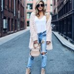 This blush faux fur jacket is all you'll need this Fall #ssCollective #ShopStyle...