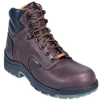 Timberland Pro Boots Women's TiTAN 53359 Brown Alloy Toe Waterproof EH Boots