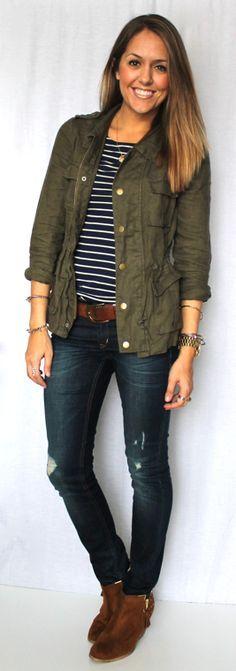 Today's Everyday Fashion: Military Jacket, 12 Ways