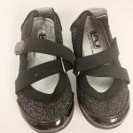 Toddler girl sparkle black dress shoes straps L.A. Underground brand Black dress...