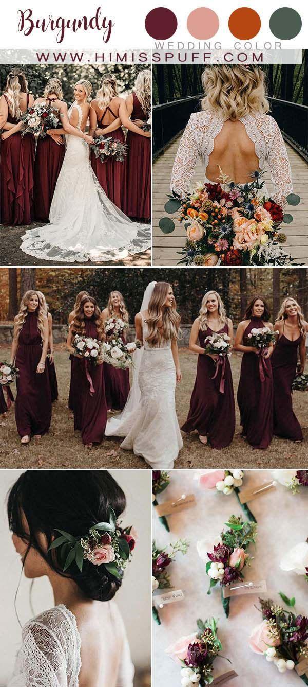 Top 10 Fall Wedding Color Ideas 2020