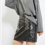 TopShop Leather Buckle Mini Skirt TopShop Leather Buckle Mini Skirt 100% Leather...
