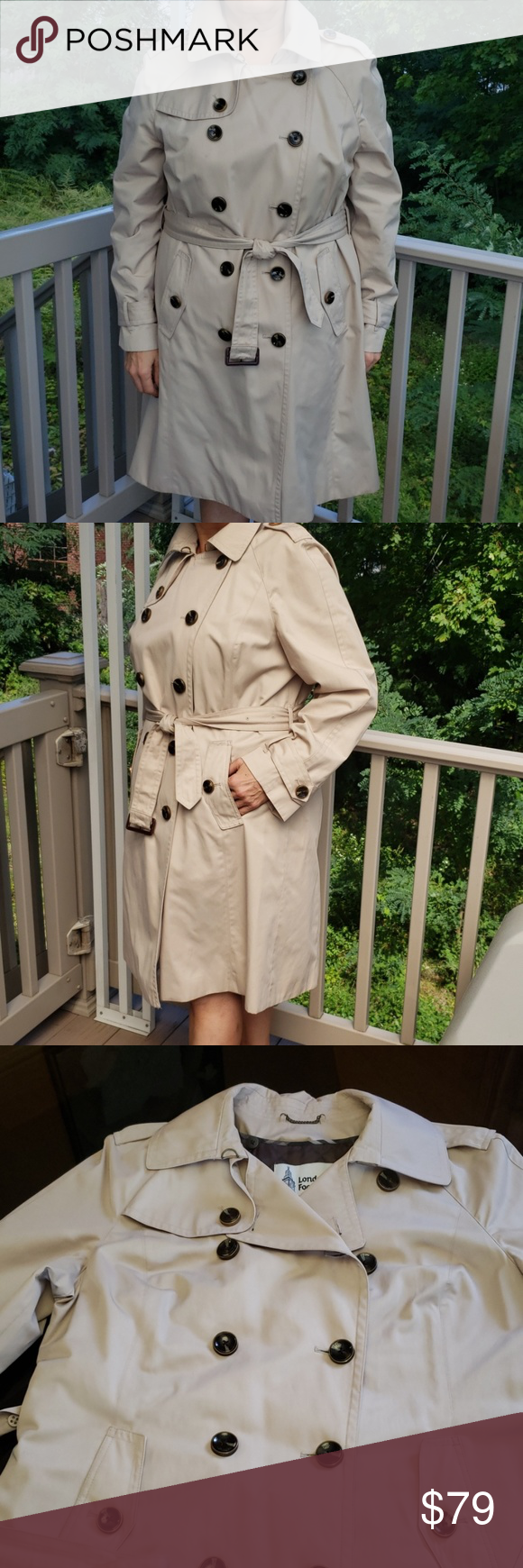 Trench Coat Stylish Trench Coat. Warm, detachable lining (pic #4 and 5).  Almost…
