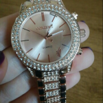 Trendy Watch Rose gold famous design watch ! Full of  diamonds 💎 Band length:...