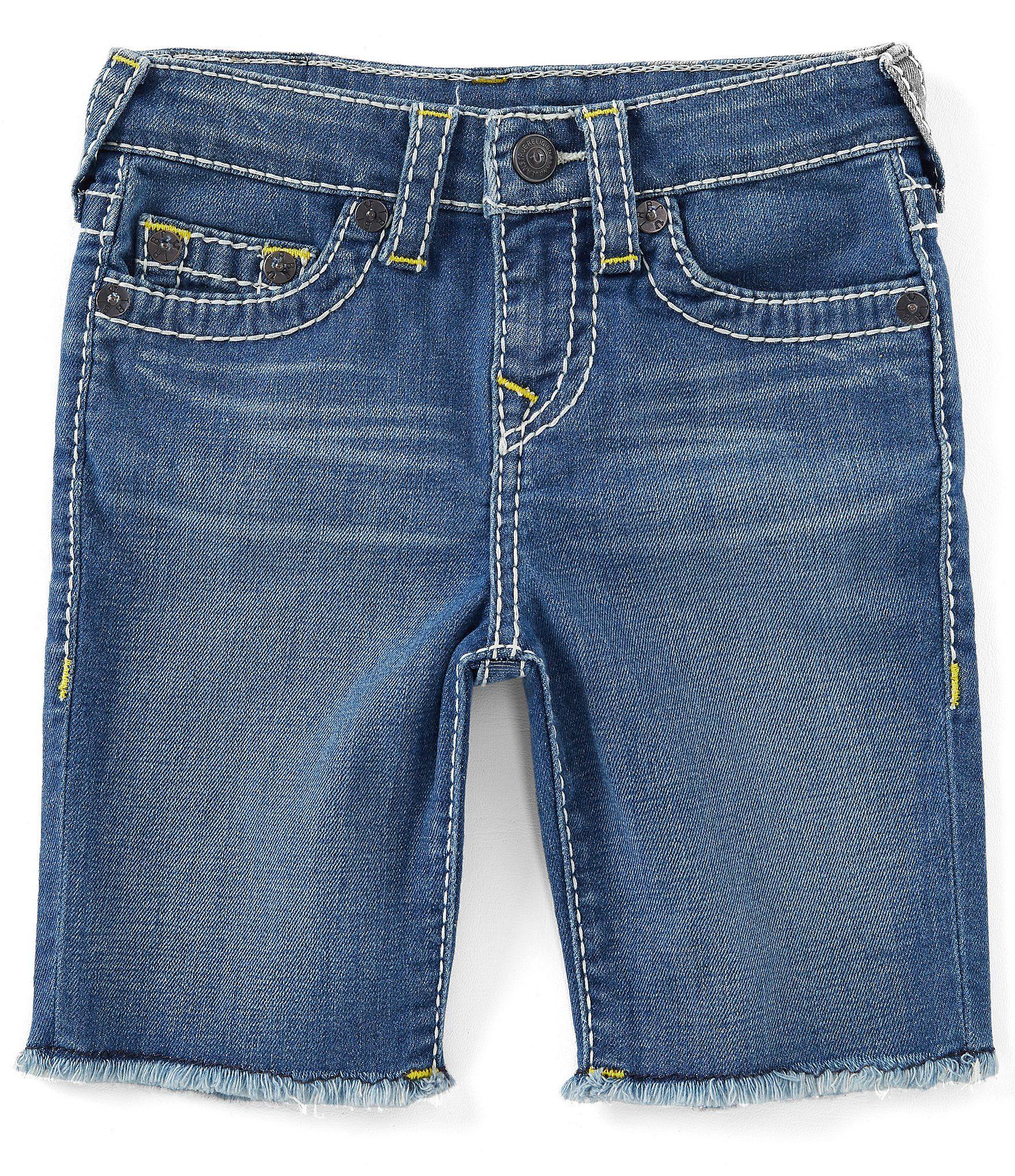 True Religion Little Boys 2T-7 Geno Cut-Off Denim Shorts – Rinse Wash 2T