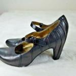 Tsubo Anush Black Leather Raised Stitch Mary Jane Tsubo Anush Black Leather Rais...
