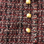 Tweed skirt Skirt, maroon, navy blue, cream... gold buttons on left side. Lined....