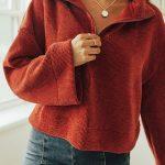 UO Torretto Chenille Half-Zip Sweater