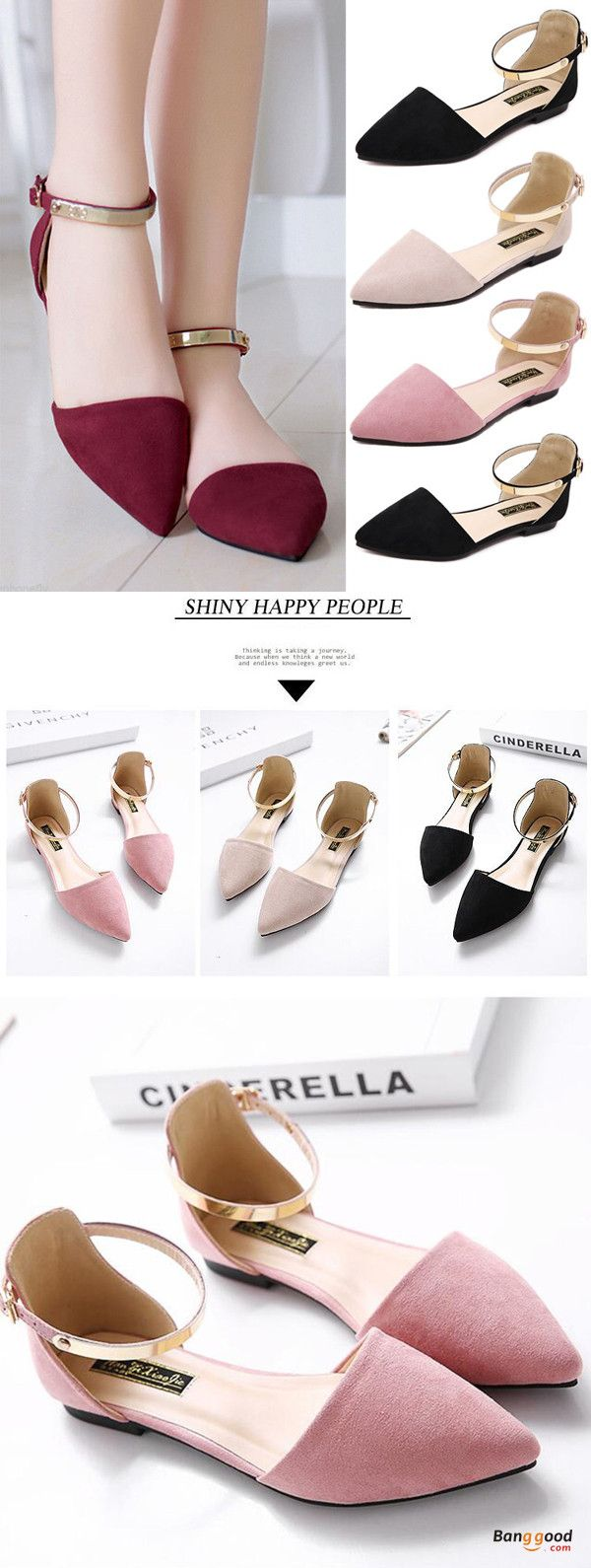 US$21.86 + Free shipping. Size(US): 5~11. Color: Black, Beige, Pink. Upper Mater…