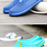 US$9.66 Big Size Hollow Out Breathable Open Heel Slip On Flat Casual Beach Sanda...