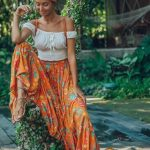 Ulu florence maxi skirt orange blossom